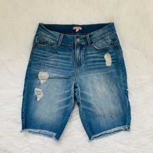 Juicy Couture Denim/ Jean Bermuda Shorts Size 6